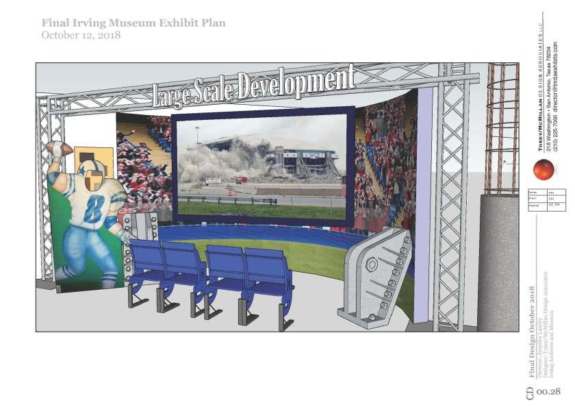 Texas Stadium Exhibit Rendering